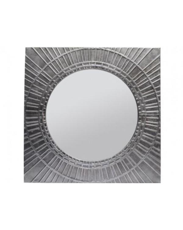 Libra Inca Antique silver Square Iron mirror